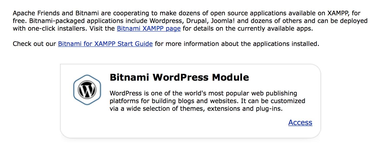 Bitnami for XAMPP