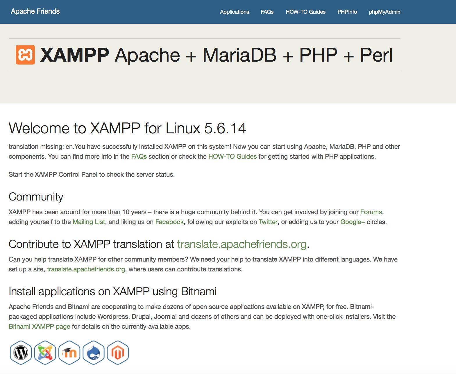 XAMPP FAQs for Linux