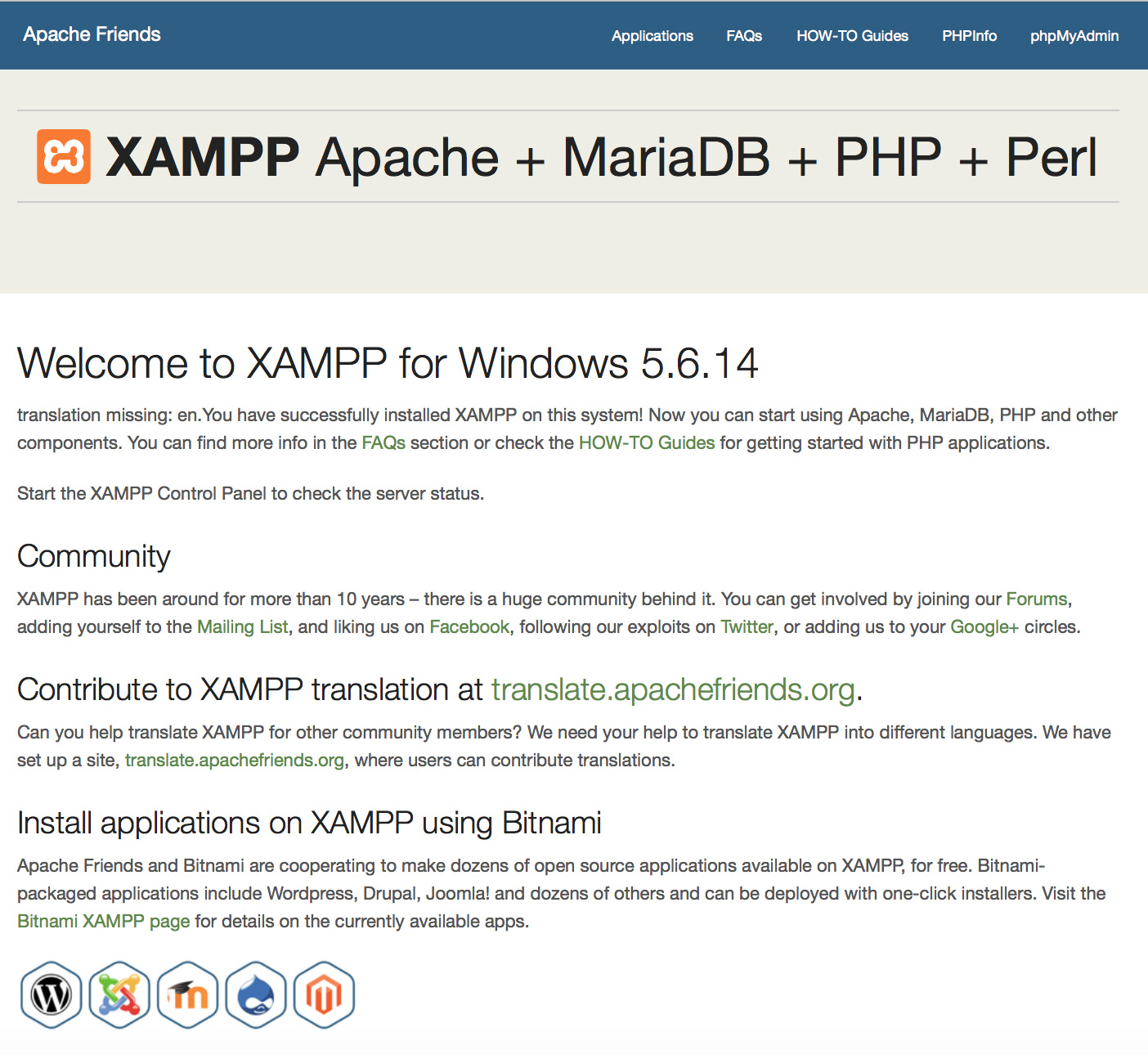 Xampp Faqs For Windows This Document Uses The Network Setup Shown In Diagram Below You Should See Start Page As